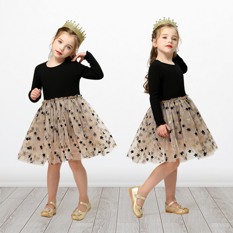 3 4 5 6 7 8 Year Girls Dress Summer Lace Sling Casual Dresses for Baby Girl Pentagram Pattern Clothes Birthday Party Dress 6