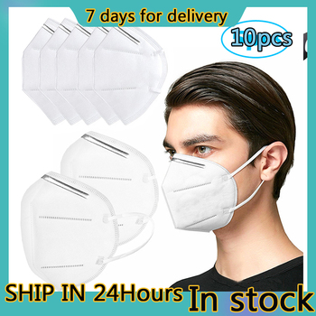10 PCS KN95 Protective Masks Air Purifying Dust Pollution Vented Respirator Non-woven Fabric Face Masks 7 Days Delivery tanie i dobre opinie Oddychająca IN STOCK FAST SHIP Profession anti dust Mask PM2 5 Disposable Elastic Mouth Soft Breathable Face Mask KN95