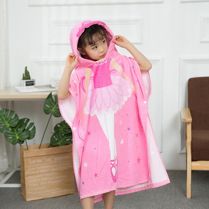 Bath Towel For Children Cloak Cotton Baby Swimming Bathrobe Mantle Beach Towel Infant Water-Absorbing Hooded Towel