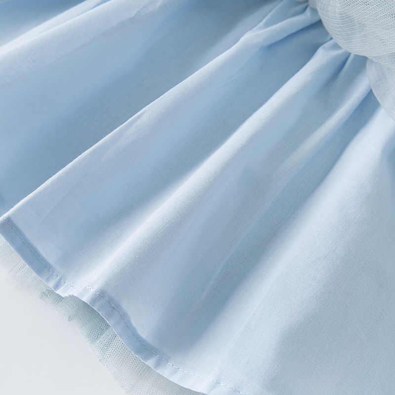 DB13090 데이브 벨라 여름 아기 소녀의 공주 활 솔리드 메쉬 드레스 어린이 파티 패션 드레스 아이 유아 로리타 옷