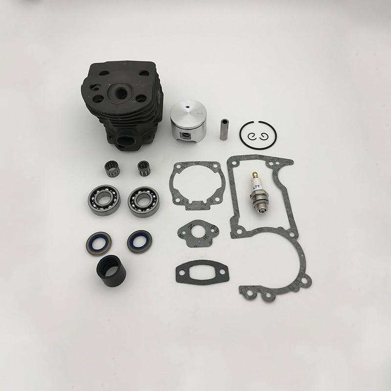 Tools : HUNDURE 46mm Cylinder Piston Bearing Oil Seal Kit For Husqvarna 505155 Rancher Engine Gas Chainsaw Parts Nikasil Plate