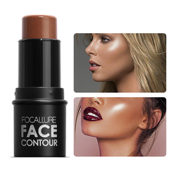 FOCALLURE Highlighter pen Face Concealer Contouring Bronzer brighten 3D Contour Makeup Glow highlighter stick