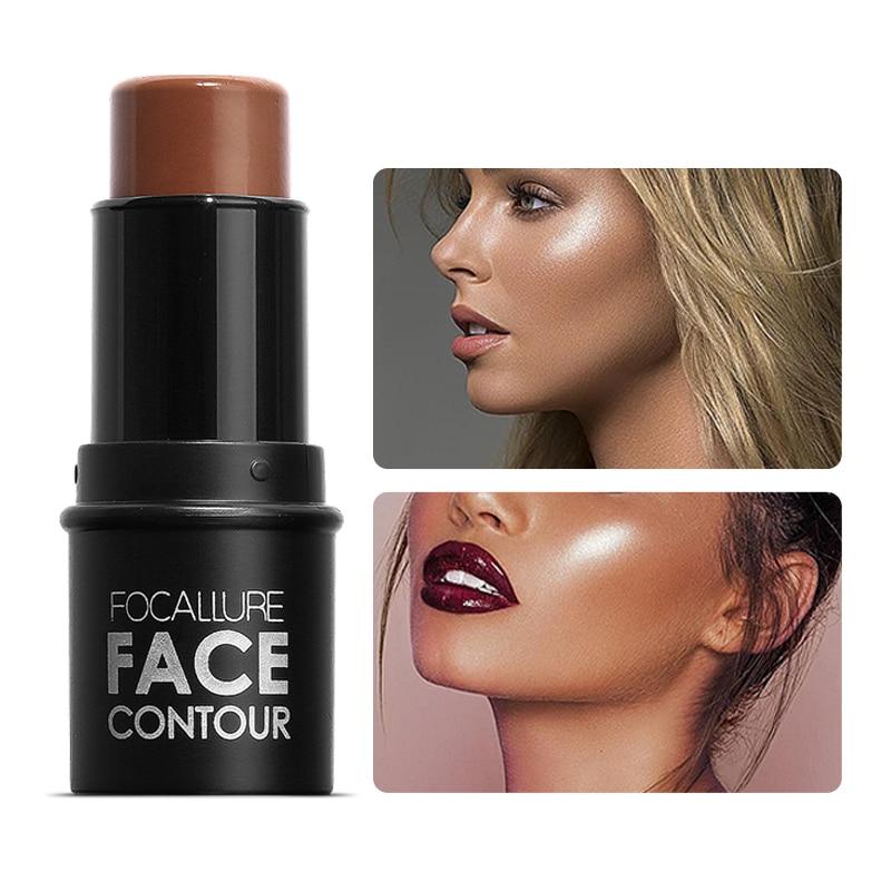Focallure highlighter caneta rosto corretivo contorno bronzer iluminar 3d contorno maquiagem brilho highlighter vara