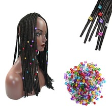 Clips-Tube Beads Braid-Rings-Cuff Hair-Dreadlock-Beads Hair-Styling-Accessorie Mix-Color