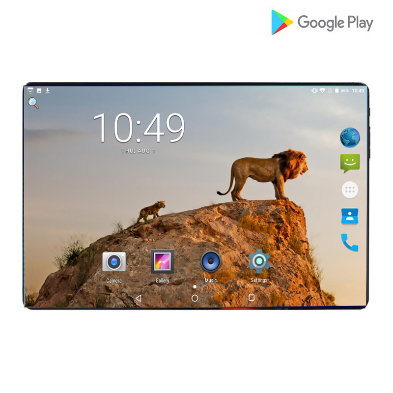 2019 Newest Google Play Store Android 9.0 OS 10 Inch 4G FDD LTE Tablet 6GB RAM 64GB ROM 1280*800 IPS Dual SIM Cards Kids Gift