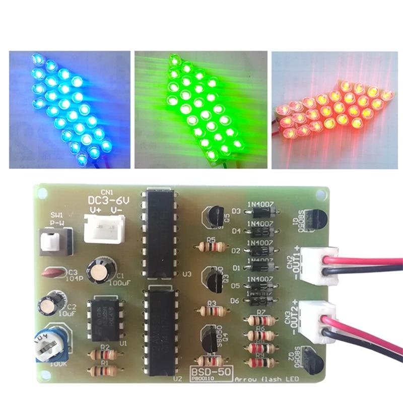 DIY Kit Red Blue Dual-Color Flashing Light LED Flashing Display Module Analog J2HC