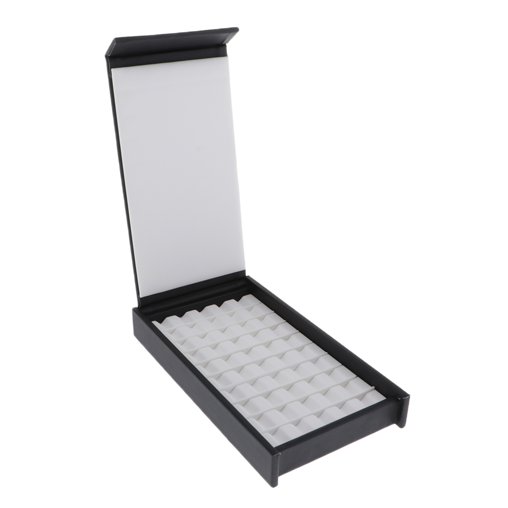 50 Grids 10 Row Gem Display Box Storage Case For Gemstones Diamond Jewelry
