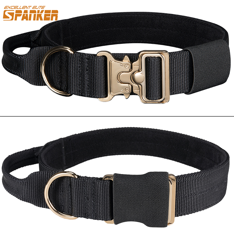 EXCELLENT ELITE SPANKER Tactical Dogs Collar Outdoor Puppy Collar Adjustable Durable Nylon Training Dog Collars