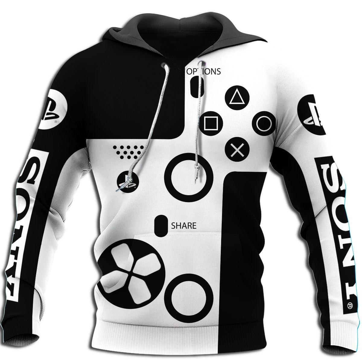 New 3D printing fun PS Dualshock sweatshirt hoodie unisex fashion street casual sweatshirt