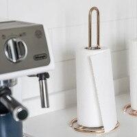 Kitchen Stainless Steel Roll Paper Towel Holder Bathroom Tissue Stand Rose Gold Napkins Rack Home Kitchen Storage Accessories|Racks & Holders| |  -