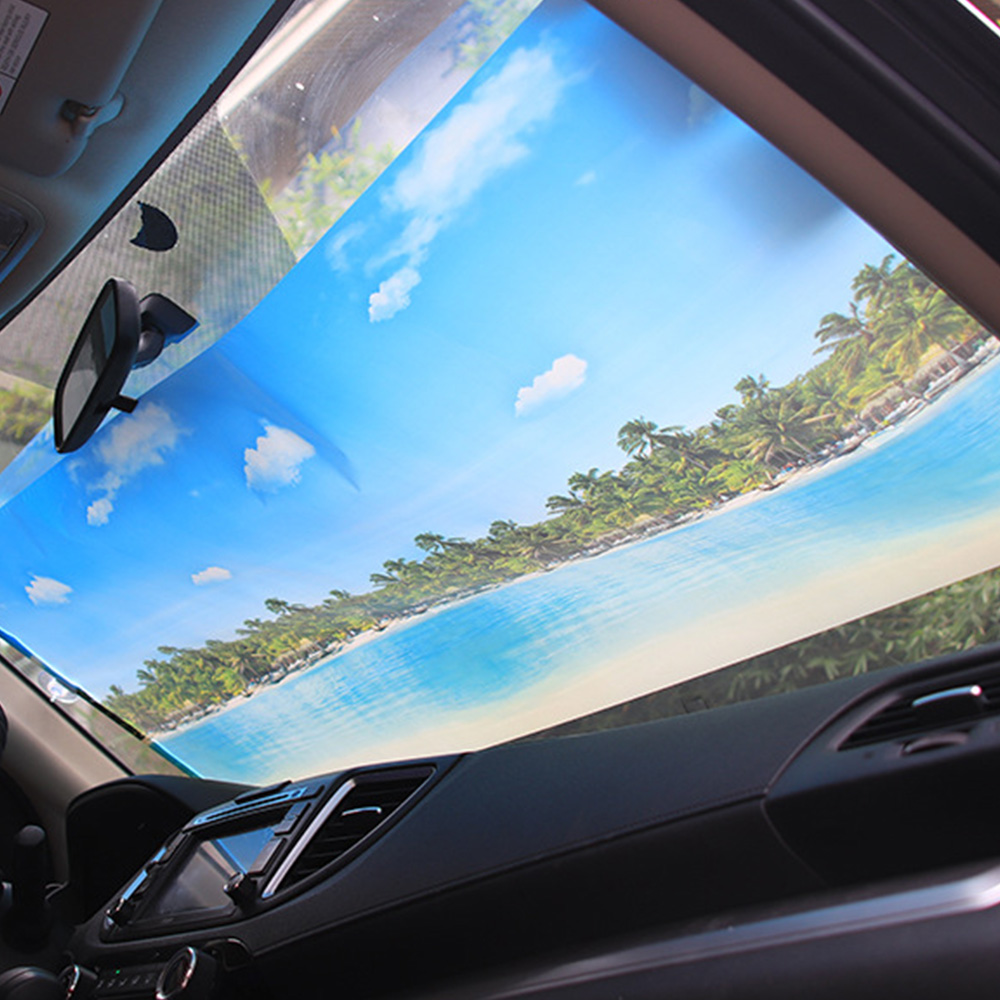 Car Sun Shade UV Protection Car Curtain Automatic Retractable Car Window Sunshade Side Window Sun Visor Summer Protection
