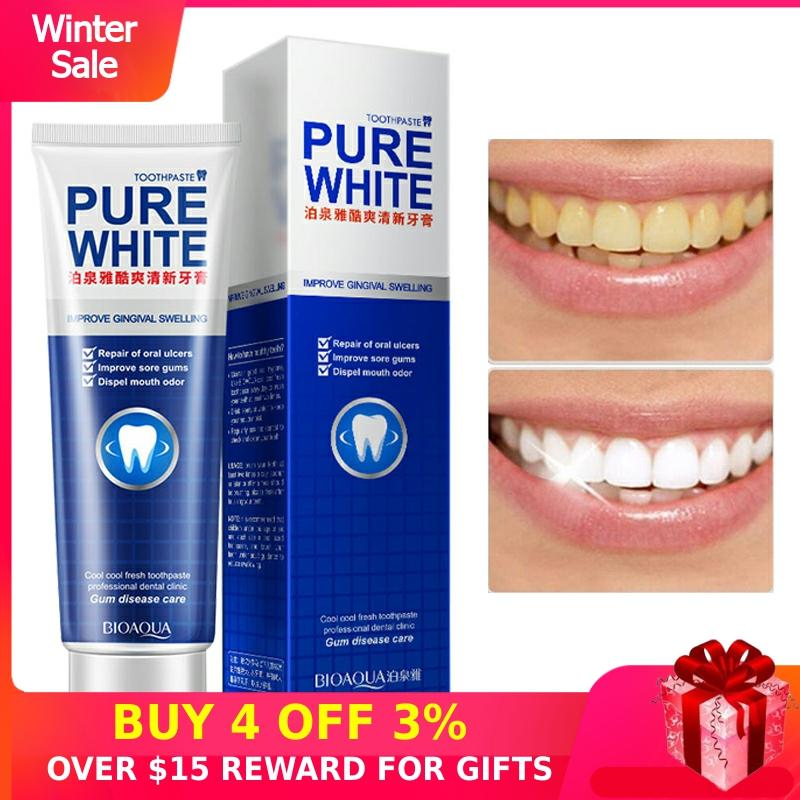 Intensive Stain Removal Whitening Toothpaste Refreshing Mint Oral Hygiene Cleansing Teeth Care Washing Tooth Cream Clean Mouth Q