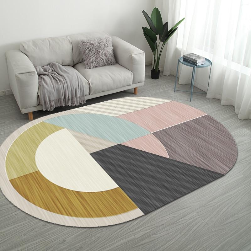 Nordic нерегулярные геометрический Коврик дома Гостиная коврики для ванной комнаты творческий Спальня прикроватные покрывало, плед исследование Йога Teppich коврик - Цвет: Style 2