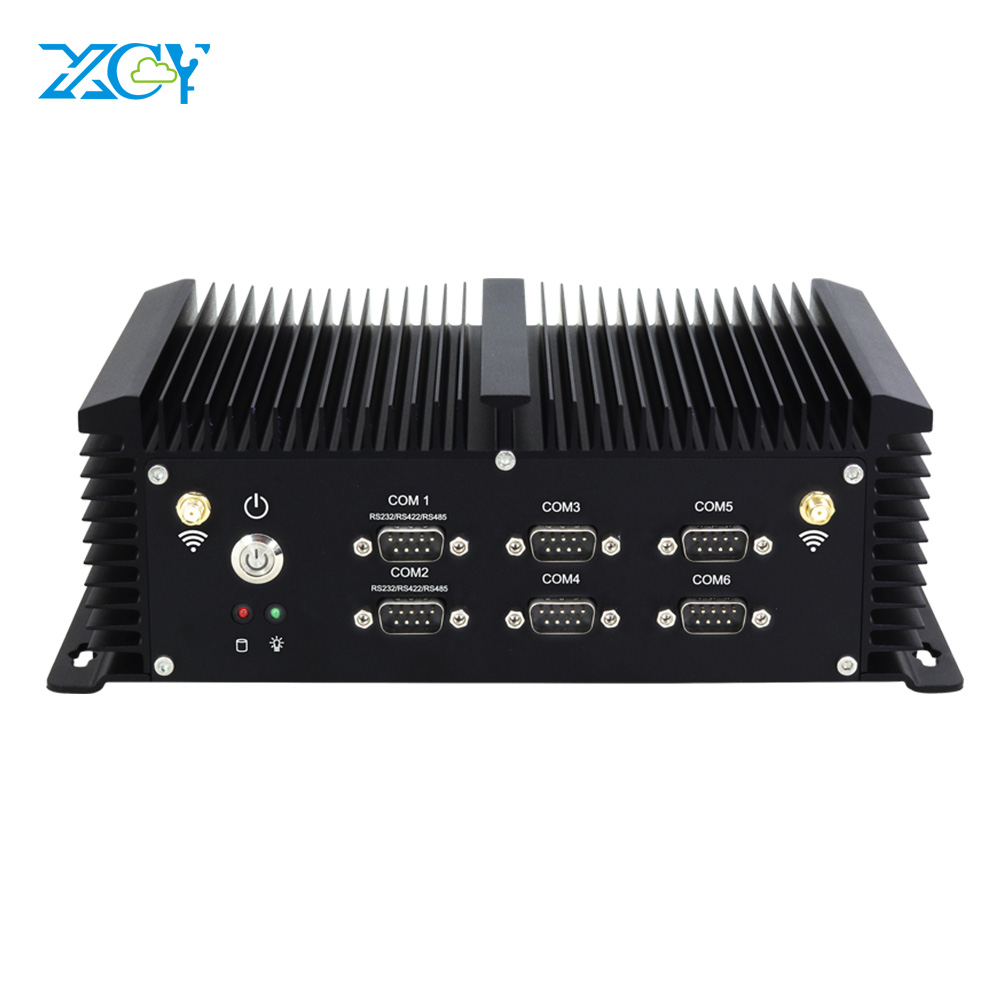 XCY Intel Core I5 4200U Industrial Mini PC Fanless 6*RS232 RS422 RS485 8*USB 2*LAN HDMI VGA WiFi Windows Linux Embedded Computer