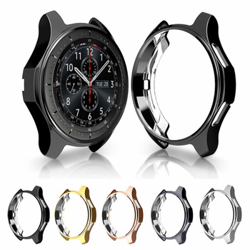Protective case for Samsung Galaxy watch 46mm 42mm band Gear S3 frontier Smart watch Replacement TPU All-Around cover shell 22mm protective cover for samsung gear s3 frontier case tpu plated all around protective bumper shell smartwatch r760 cover frame