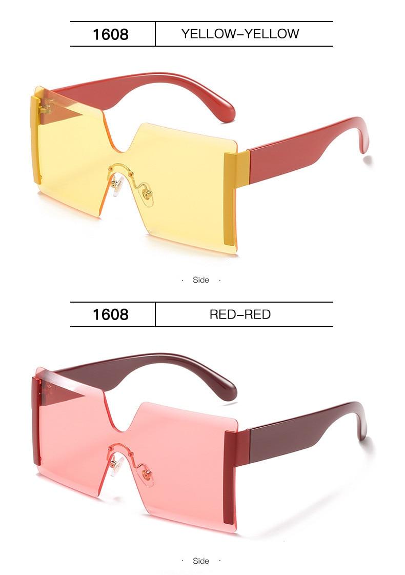 Luxury Brand Women's Sunglasses Square Sunglass Lady Designer 2021 trend Cool Vintage Retro Sun Glasses Rimless Shades For Women (14)