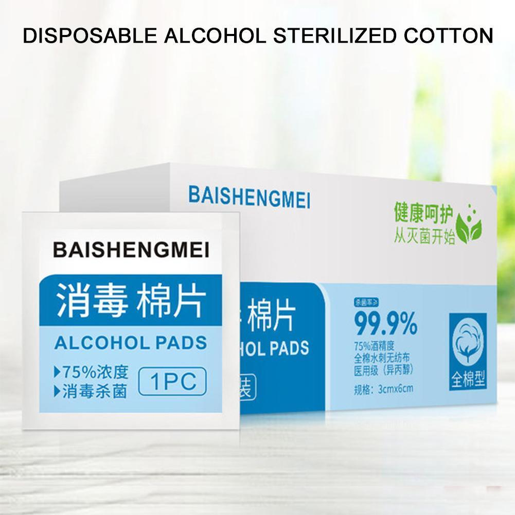 100pcs/set Disinfection Wet Wipes Pads Portable Alcohol Wipes Swabs For Daily Cleanser Antibacterial Life Tablet I7I9