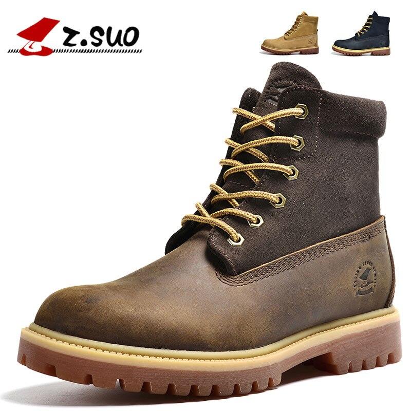ZSuo New Style Martin Boots Men's Autumn & Winter Men's Boots England Short Boots Trend Combat Boots Men's Desert Boots Zs1208