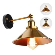 Aplique de pared para sala de estar, dormitorio, candelabro de Industrial retro, lámpara de techo dorada, accesorios de iluminación
