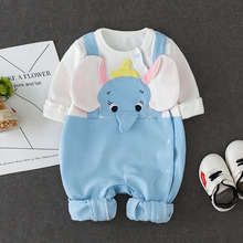 Newborn baby jumpsuit, baby boy and baby cotton covered foot jumpsuit. 9