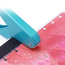 노트북 루스 리프 t 형 펀처 버섯 구멍 수동 펀칭기 스크랩북 diy 종이 커터 사무실 바인딩 구멍 펀치