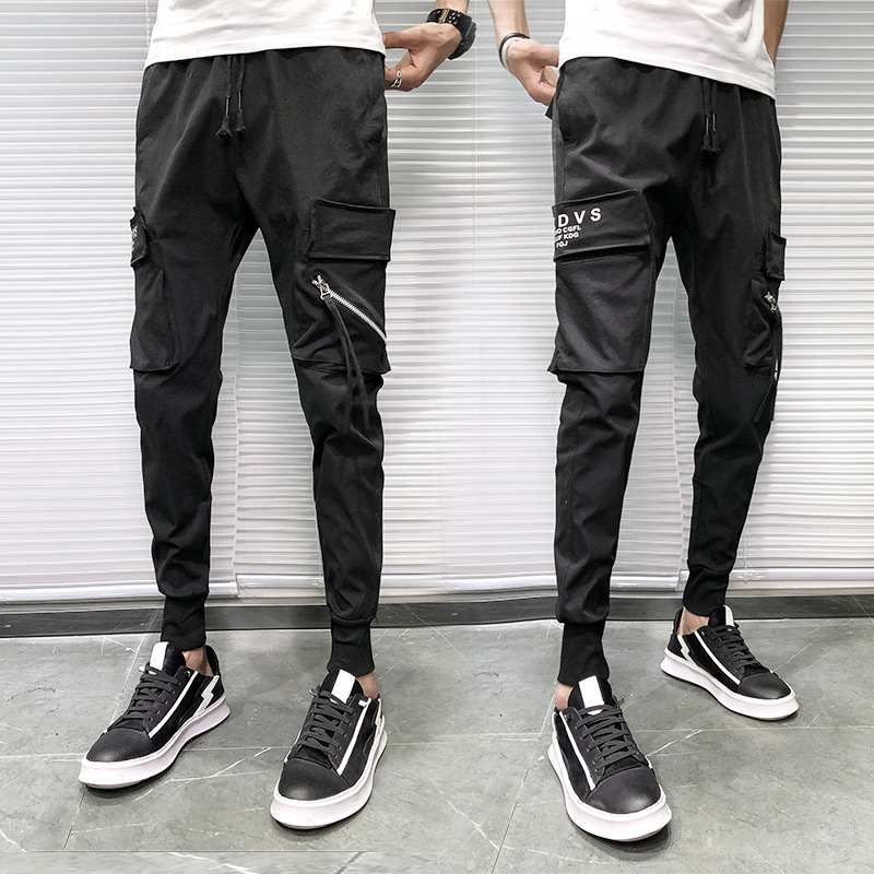 2019 Spring New Style Social Lively Fella BOY'S Bib Overall Men's Skinny Pants Fashion K993