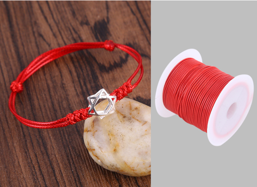 0.5/0.8/1.0/1.5/2.0mm Waxed Cotton Cord Waxed Thread Cord String Strap Necklace Rope For Jewelry Making For Shamballa Bracelet 6