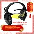 Тактика электронная стрельба наушники анти-шум усиление Охота Защита слуха наушники sightline губка амбушюры