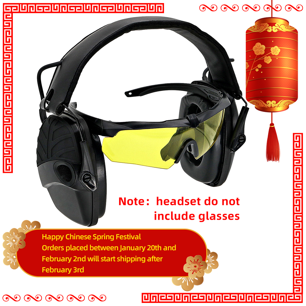 Tactics Electronic Shooting Earmuffs Anti-noise Amplification Hunting Hearing Protection Headphones Sightlines Sponge Ear Pads