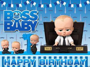 Image 2 - Sensfun Blue Little Men Boss Baby Birthday Party Backdrop For Photo Studio Boys Photography Backgrounds 7x5FT Vinyl Polyester