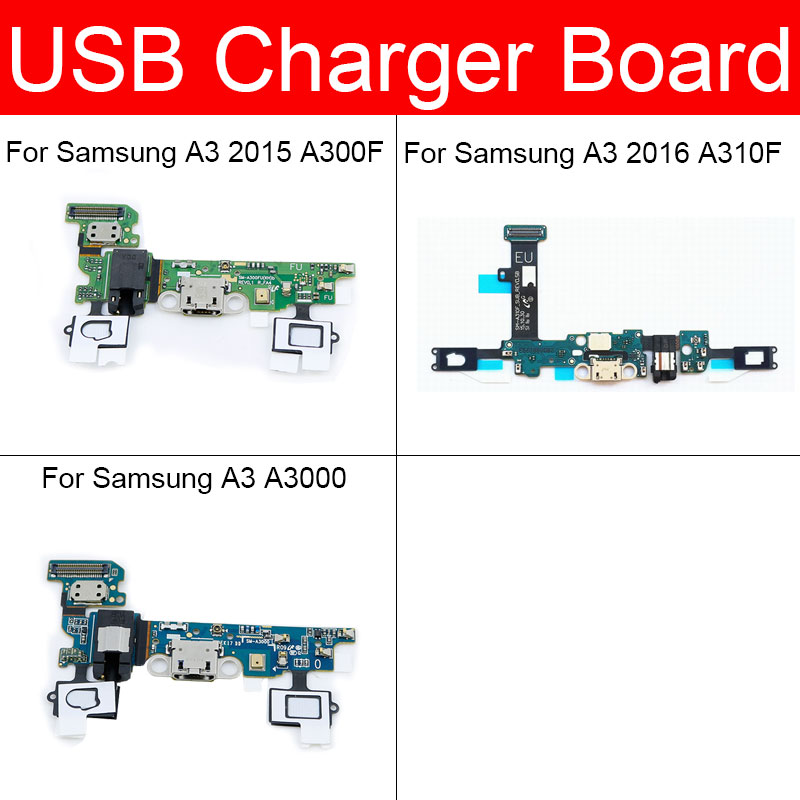 Charging USB Jack Port Board Flex Cable For Samsung Galaxy A3 2015 2016 A310F A300F A3000 USB Charger Dock Connector Board