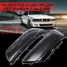 Пара фар крышка оболочки фары стекло объектив автомобилей фары комплект 63128375302 63128375302 для Bmw 5 серии E39 199