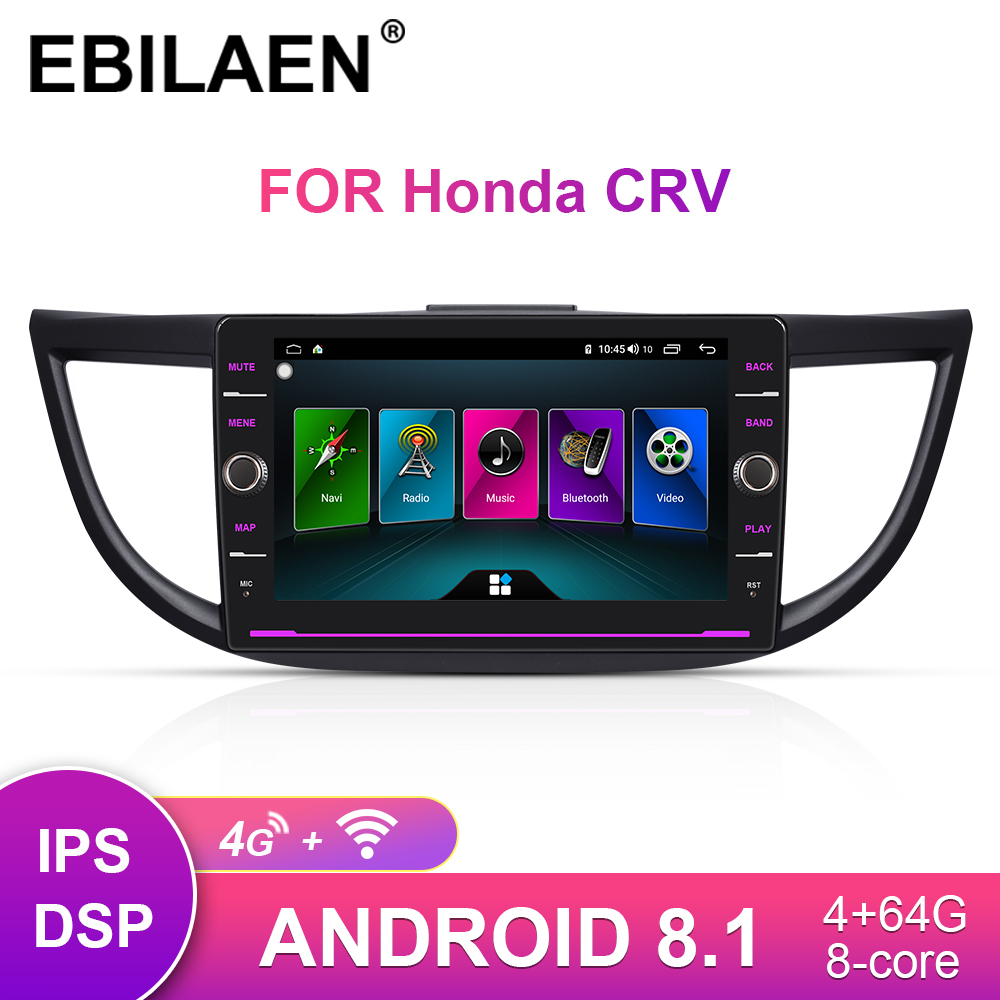 EBILAEN Car Radio Multimedia Player Head Unit For <font><b>Honda</b></font> CR-V <font><b>CRV</b></font> 2012-2016 2Din Android 8.1 Auto <font><b>GPS</b></font> Navigation Tape Recorder image