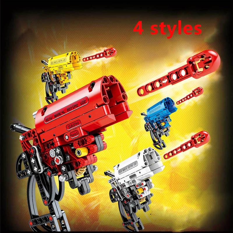 156pcs técnica Arma Sinal De arma de Campo de Batalha Militar Tijolos Blocos Blocos de Construção de Brinquedo Brinquedos Educativos Para Crianças Presentes