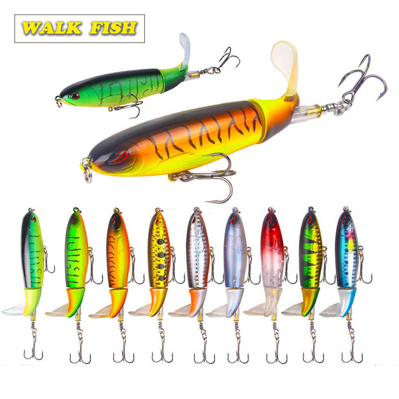 Walk Fish 1Pcs 13g/35g Whopper Popper Topwater Fishing Lure attrezzatura da pesca artificiale