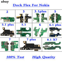 New Quality Replacement Parts Charging Flex Cable For Nokia 2 3 3.1PLUS 3.2 5 5.1 6 7 Plus X5 X6 USB Port Socket Dock Connector(China)