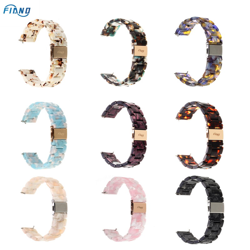 FIANO Compatible With Fitbit Versa/Versa 2/Versa Lite Bands Resin Fashion Smart Watch Band Replacement Wristband Strap For Women