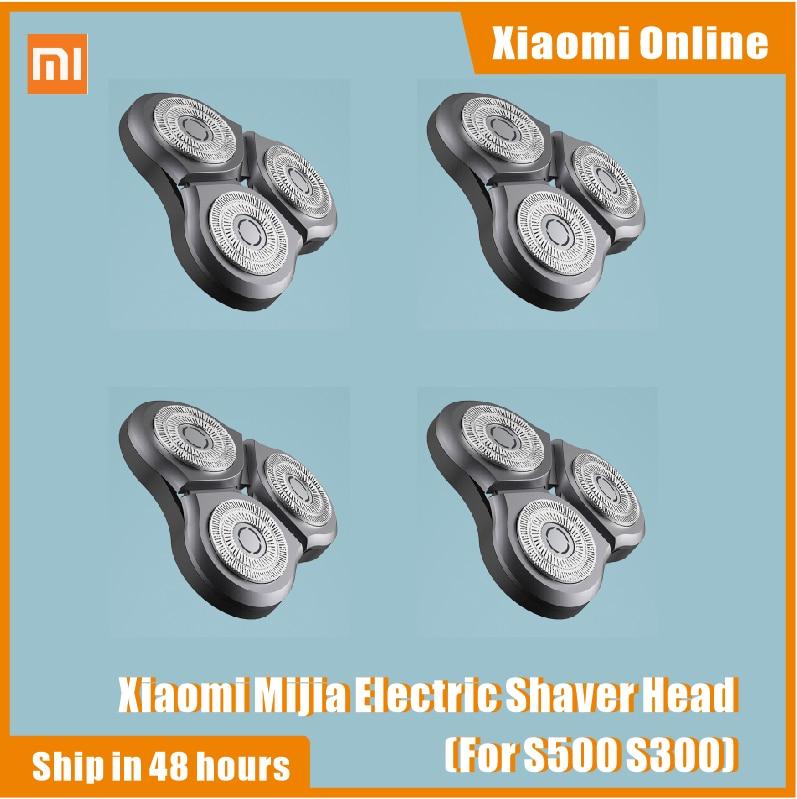 Original Xiaomi Mijia Shaver Blade Electric Shaver Mijia S500 S300 Shavers Razor Waterproof Dual-layer Blade Steel Blades1-4pcs