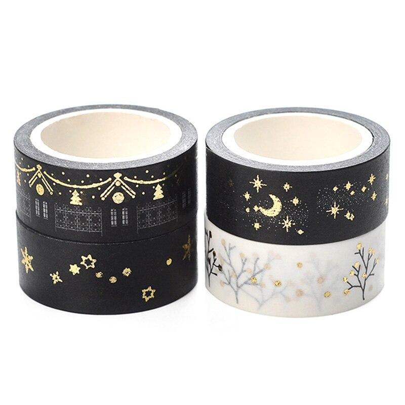 1PCS Moon Stars Washi Tape 15mm*5m Album Scrapbook DIY Sticker Gift Packaging Masking Tape