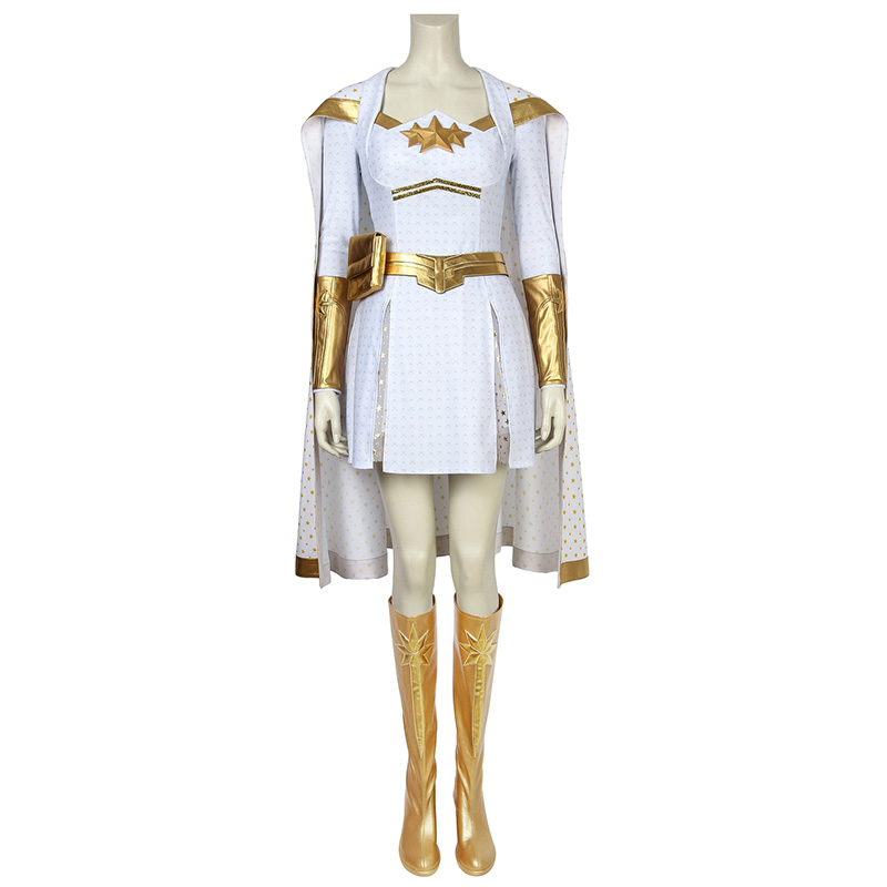 The Boys Season 1 Costume Starlight Annie January Cosplay Fancy Dress Jumpsuit Cloak Shoes Adult Women Halloween Carnival Outfit