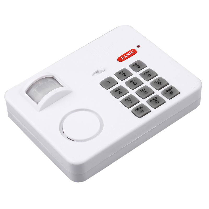 Wireless Motion Sensor Alarm mit Sicherheit Tastatur PIR Hause Garage Schuppen Caravan weiß Sicherheit Zubehör