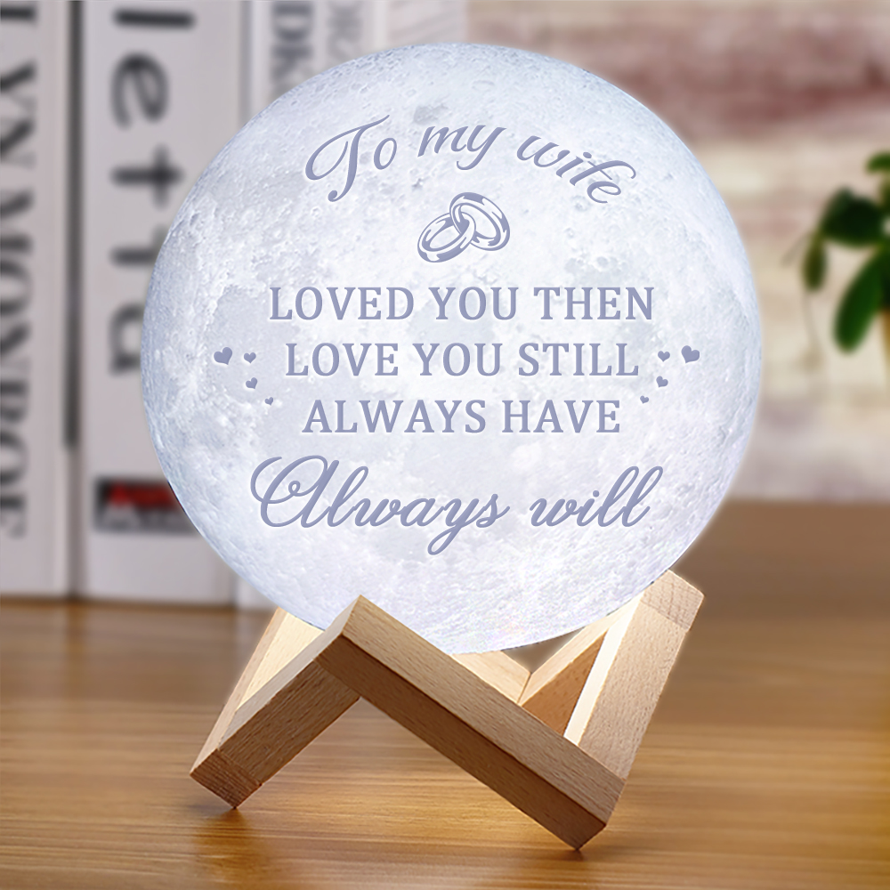 3D Moon Lamp Night Light For Girlfriend Wife Wedding Anniversary Gifts LED Night Lamp  Moon Light For Christmas Birthday