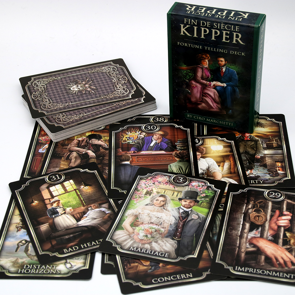 Fin De Siècle Kipper Ciro Marchetti Traditional German Fortune Telling Deck At The Turn Of The 19th Century In Victorian England