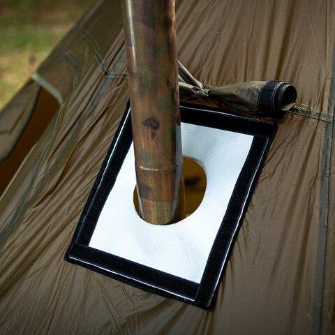 o acessorio resistente ao fogo do respiradouro da tubulacao do jack do fogao da barraca