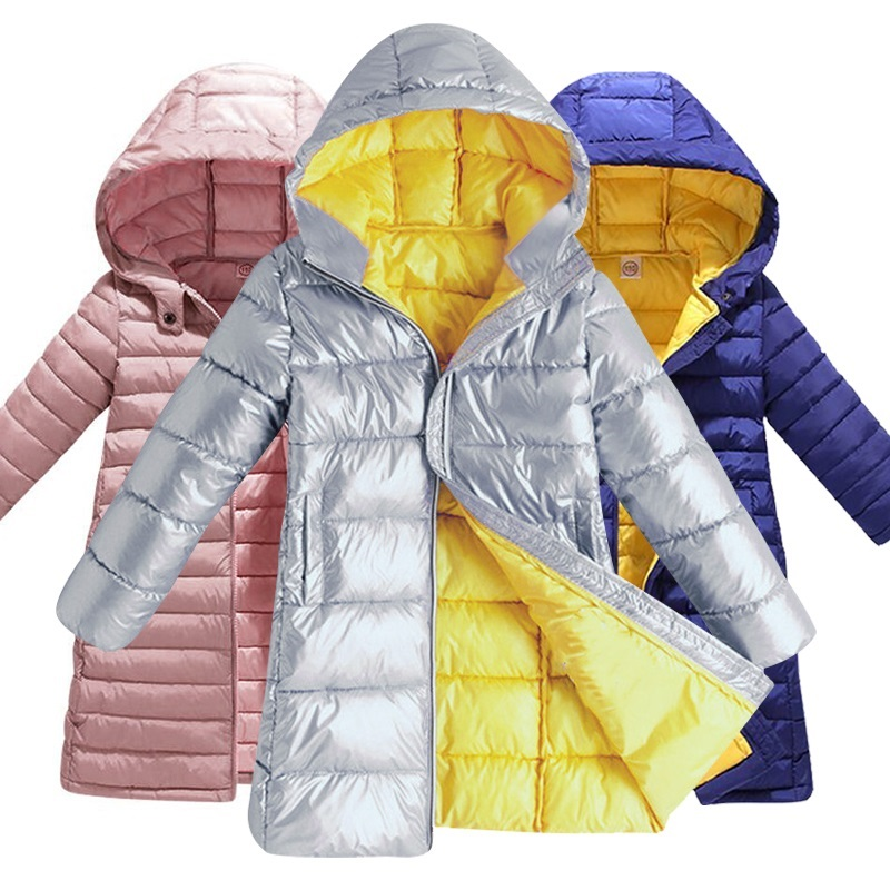 2018 New Winter Fashion Kids Girls Jacket Children Plus Thick Velvet Jacket Big Virgin Long Warm Coat For Cold Winter