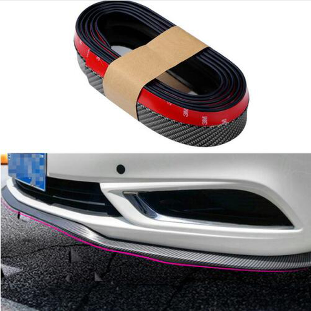 Car Stylling Rubber Skirt Carbon Front Lip <font><b>Bumper</b></font> Decoration For <font><b>BMW</b></font> E46 E52 E53 E60 E90 E91 E92 F01 F30 F20 <font><b>F10</b></font> F15 F13 M3 M5 image