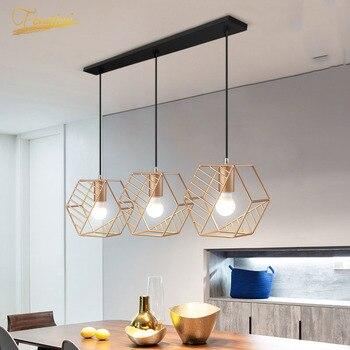 Modern LED Iron Art Pendant Lamp Lighting Fixtures European Pendant Light Loft Bedroom Living Dining Room Home Deco Hanging Lamp