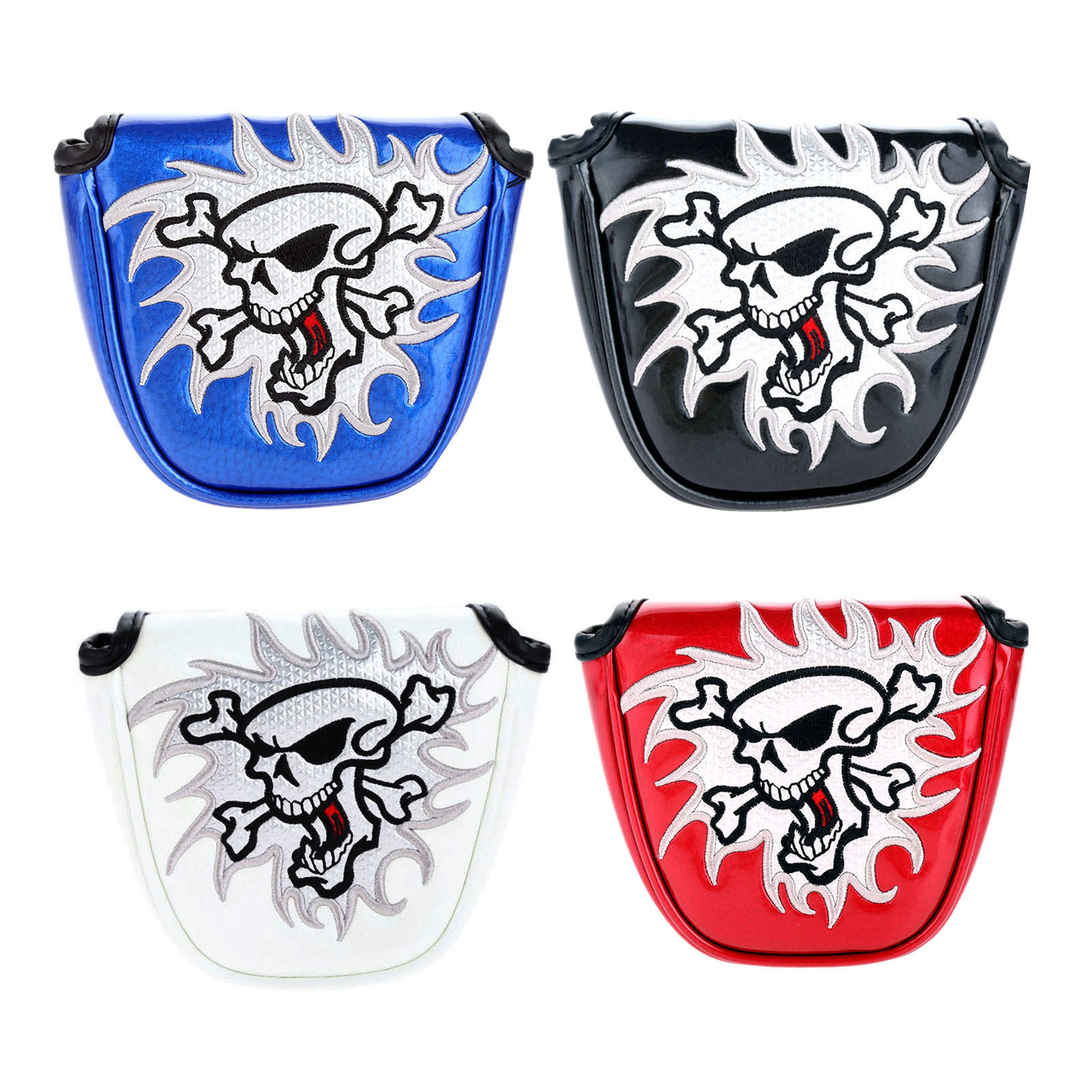 1Pc Semi-circle Golf Mallet Putter Cover Headcover Golf Club Blade Putter Heads Cover Protector Bag With Magnetic Closure