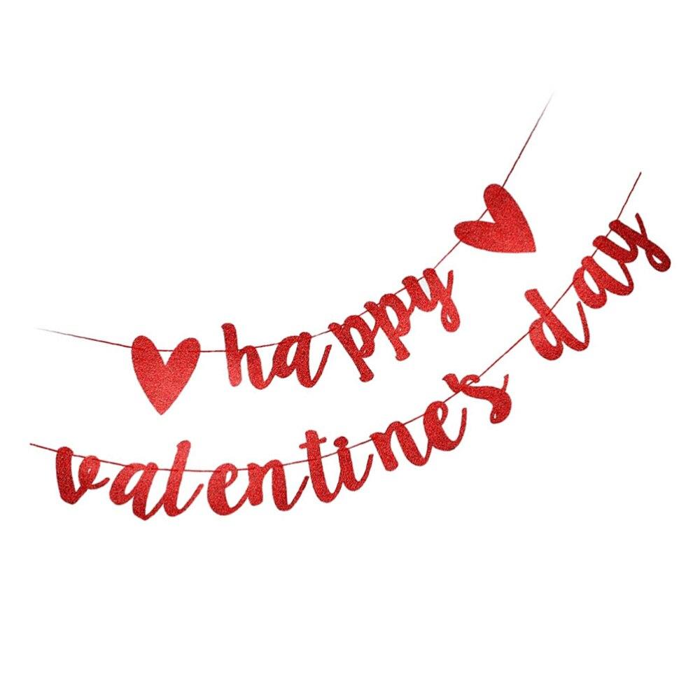Блестящие Блестки для свиданий ко Дню Святого Валентина вечерние Бумага баннер подвесное украшение день Святого Валентина баннер Счастлив...