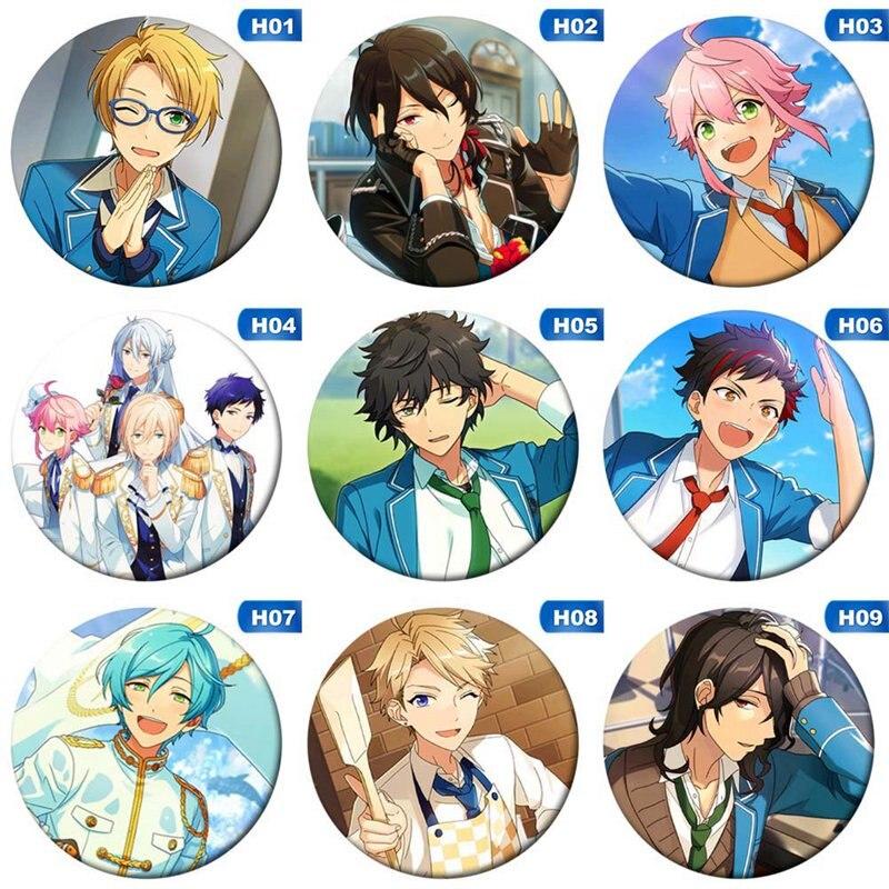Lovely Anime Costumes Badges  Ensemble Stars Akehoshi Brooch Icon Hidaka Hokuto Collection Bag Breastpin